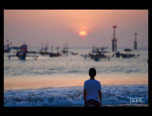 バリ島の夕陽
