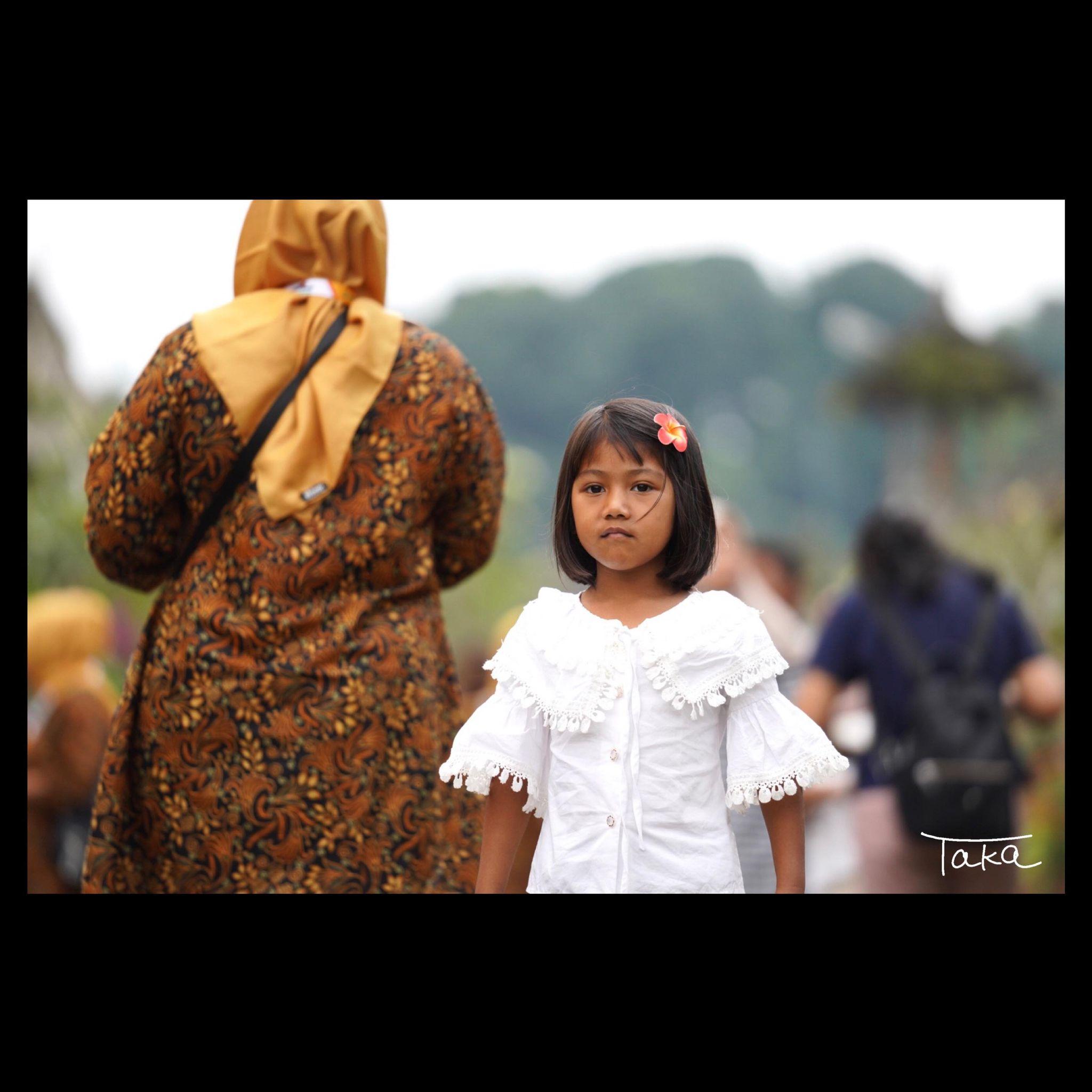 バリ島 観光に来ている女の子