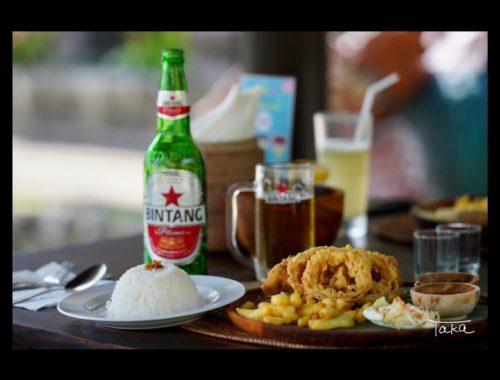 バリ島のレストランとビンタンビール